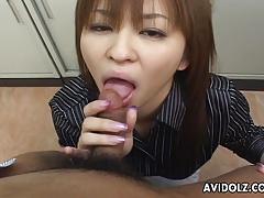 Big cock sucking asian beauty