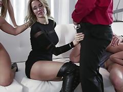 katie morgan, asa akira, jessica drake, luna star, teanna trump, blowjob, riding, doggystyle, cumshot, facial, double penetration, reverse cowgirl, heels, orgy, cowgirl, dp, group, sucking