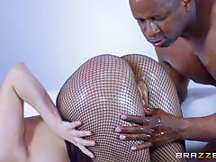 Alexa nicole getting her pussy filled with black meat