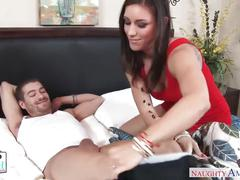 Rich girl rilynn rae swallows and fucks a big dick - naughty america