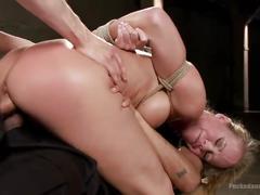 Milf whore stuffed with 2 huge cocks