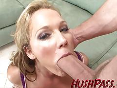 Horny milf takes on this huge dick