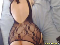 Gorgeous babe fucked on cam