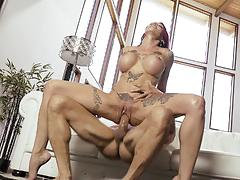 Inked sn 4 anna bell peaks spooned in her wet hole