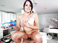 Balls deep in the muffhole of beautiful megan sage in the kitchen