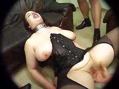 Chubby fucked in pantyhose