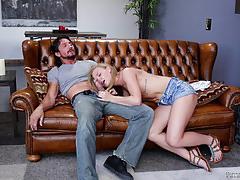 Nicole clitman gets her mouth shot with her stepdads cum gun