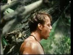 Tarzan fucks jane's pussy in woods