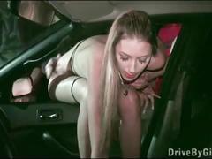 Public gangbang of gorgeous kitty jane through a car window