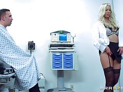 Hot blonde fucks by her patient