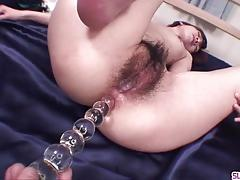 Asian gets her hairy pussy drilled
