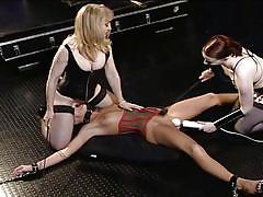 milf, blonde, bdsm, lesbians, mature, lesbian threesome, handcuffed, corset, pierced nipples, pussy eating, asian girl girl, melissa lauren, nina hartley, claire adams