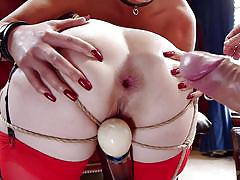 Buxom babes are fucked in hardcore bdsm