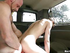 twink, gays, gay anal, bald gay, bait bus, tricked, car sex, from behind, bait bus