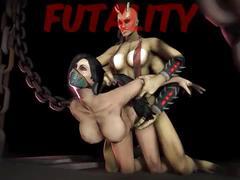 Mortal kombat jade kitana sheeva sonya 3d animation compilation