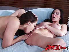 kendra lust, sara luvv, lesbian, pussy eating, babes