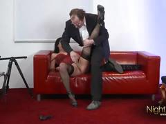 German casting agent fuck model on casting couche