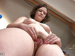 solo, hairy, panties, amateur, hairy pussy