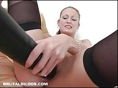 Wild babe hailey young toys her pussy