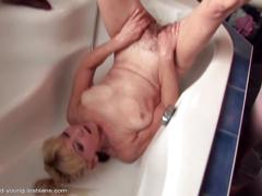 Taboo girls fuck and piss on grannies