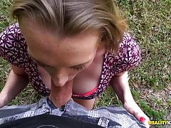 roxy nicole, blowjob, cumshot, hot, sexy, outdoor, spunk, balls deep, fucking