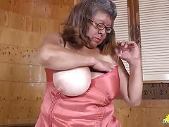 Rampant granny masturbating