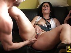Euro babe gets her pussy slammed