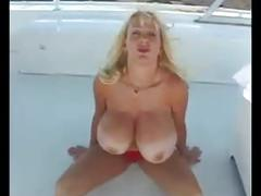 Kayla kleevage having fun with a big cock black man