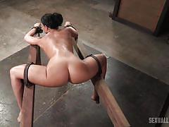 bdsm, submissive, babe, round ass, deepthroat, domination, from behind, device bondage, sexually broken, sexually broken, matt williams, jack hammerx