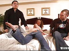 Swingers having a hardcore mmf threesome