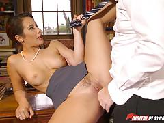 Student bangs naughty headmistress eva lovia