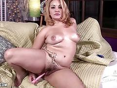 Randy babe masturbating