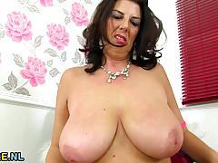 big tits, busty, toy, masturbation, fingering, fat, dildo, solo, bbw, mature, natural tits, amateur