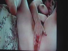 Wife finger fucks herself