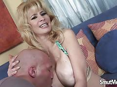 Big boobed blonde fucked hard