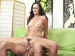 bianca breeze, brunette, blowjob, cumshot, reverse cowgirl, oil, spooning, sucking, licking pussy, oiled up