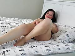 big tits, milf, big ass, masturbation, stockings, fingering, orgasm, bbw, gilf