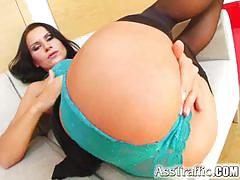 Ass traffic alice deepthroats eats cum and ass banged