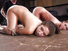 Two big ass whores getting punished by the master