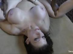 Interracial slut sara jay gets throat fucked by bbc