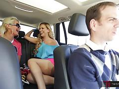 Blonde babes public car sex