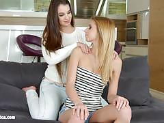 Beautiful lesbians eat muff