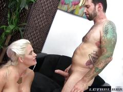 Holly fucks step brother and swallows his cum