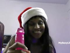 Xmas special indian babe lily celebrating christmas porn