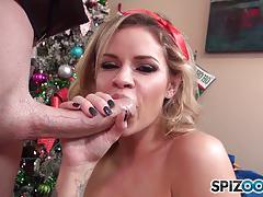 Jessa rhodes slurping the cock off santa