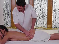 Oily sexy massage and sensual christmas fuck