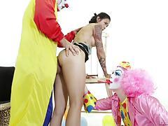 Dana vespoli facialized by clowns