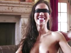 Asian hotwife blindfolded and shared