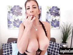 Angelina castro strap on fucks sara jay!