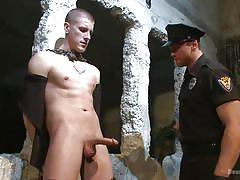 gay bdsm, gay handjob, gay domination, gay in chains, tattooed, whipping, nipple pinching, police uniform, bound gods, kink men, connor maguire, brendon scott